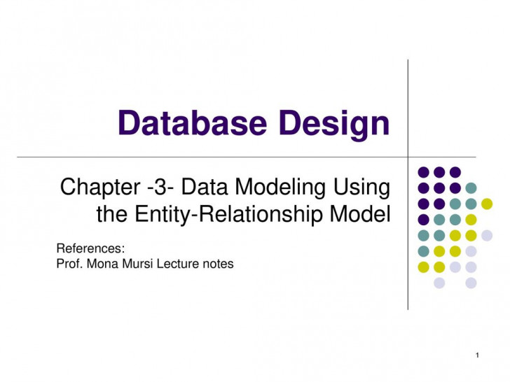 Permalink to Chapter -3- Data Modeling Using The Entity-Relationship with regard to Er Diagram Lecture Notes