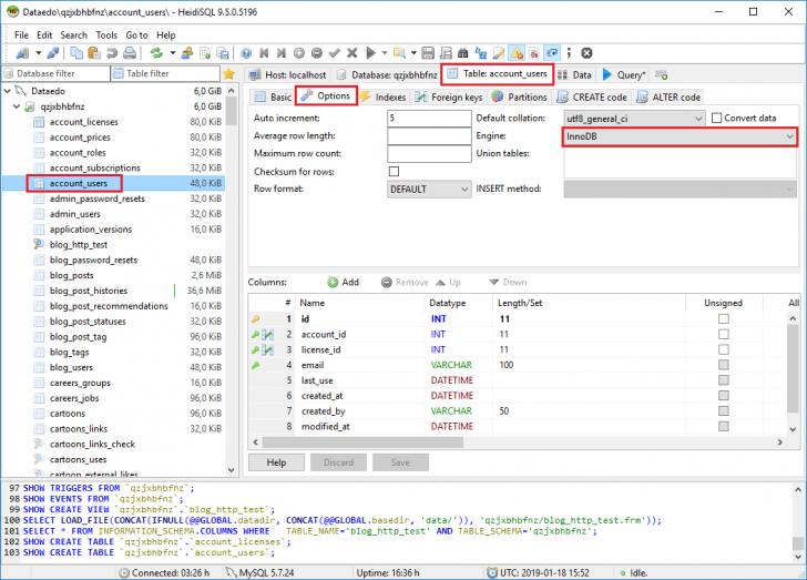 Permalink to Check Table Engine In Heidisql – Heidisql Tutorials regarding Er Diagram Heidisql