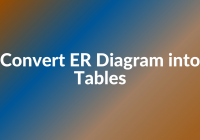 Convert Er Diagram Into Tables – Generalization pertaining to Er Diagram Generalisation Is Represented By