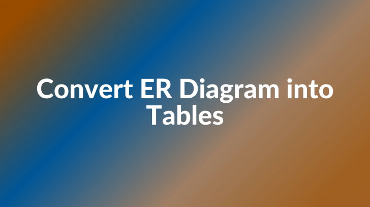 Permalink to Convert Er Diagram Into Tables – Generalization pertaining to Er Diagram Generalisation Is Represented By