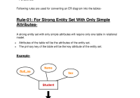 Converting Er Diagrams To Tables – Data Mining – Studocu