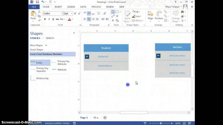 Permalink to Create Er-Diagrams Using Visio 2013 inside Er Diagram Visio 2017