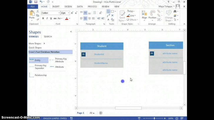 Permalink to Create Er-Diagrams Using Visio 2013 intended for Er Diagram On Visio