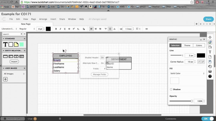Permalink to Creating An Erd With Lucidchart intended for Er Diagram Lucidchart