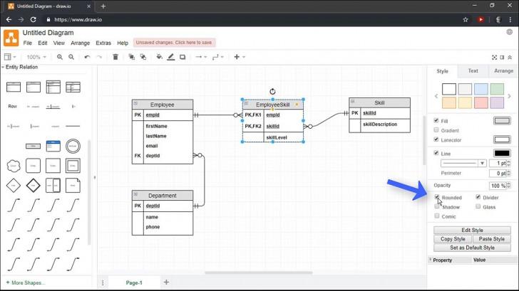 Permalink to Creating Entity Relationship Diagrams Using Draw.io regarding Draw Schema Diagram