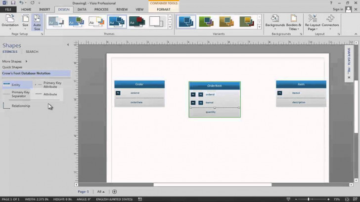 Permalink to Data Modeling In Visio 2013 with Er Diagram Using Visio 2013