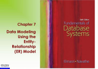 Data Modeling Using The Entity- Relationship (Er) Model within Data Modeling Using Entity Relationship Model