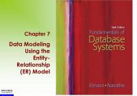 Data Modeling Using The Entity- Relationship (Er) Model within Data Modeling Using Entity Relationship Model