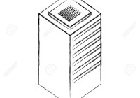 Database Center Server Storage Technology Vector Illustration.. with Drawing Database