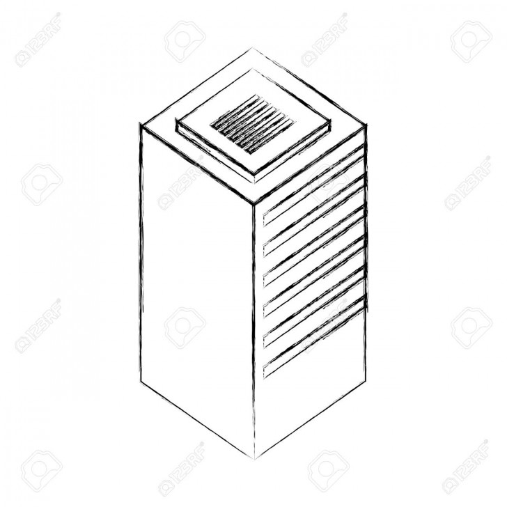 Permalink to Database Center Server Storage Technology Vector Illustration.. with Drawing Database