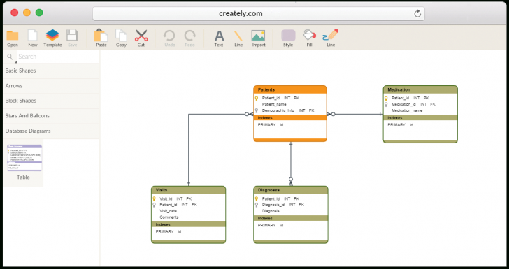 Permalink to Database Design Tool | Create Database Diagrams Online throughout Drawing Database