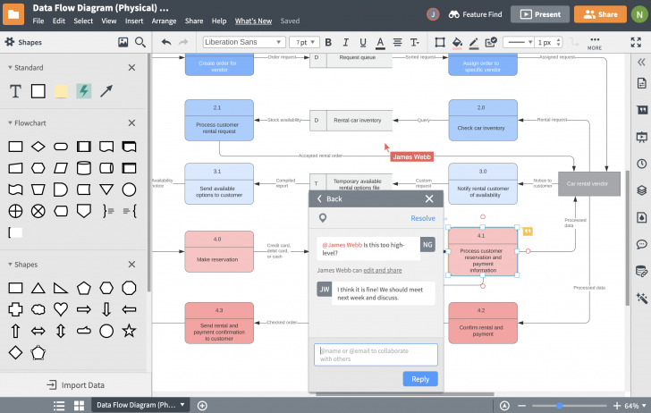 Permalink to Database Design Tool | Lucidchart within How To Draw Database Diagram