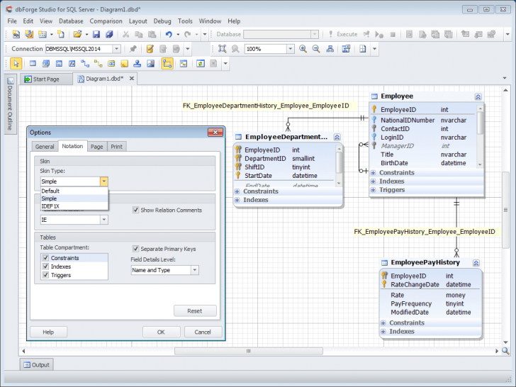 Permalink to Database Diagram Tool For Sql Server throughout Sql Er Diagram Tool