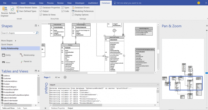 Permalink to Database Reverse Engineering For Visio Pro   Orbus Visio Blog pertaining to Er Diagram Access 2016