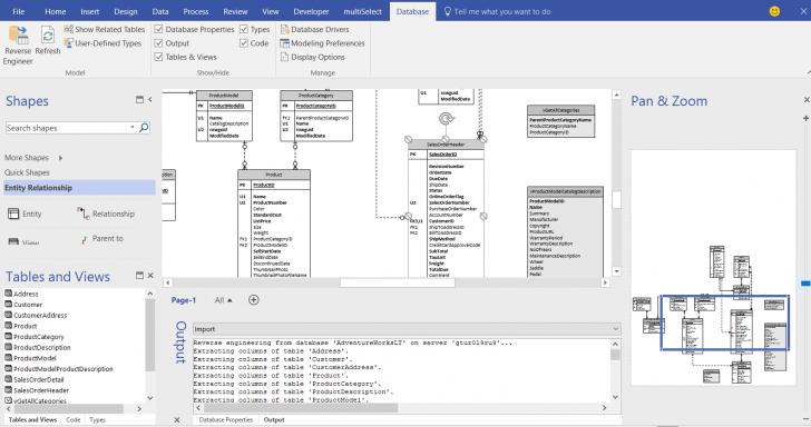 Permalink to Database Reverse Engineering For Visio Pro | Orbus Visio Blog regarding Entity Relationship Diagram Visio 2016