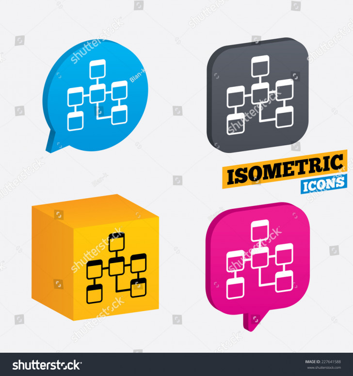 Permalink to Database Sign Icon Relational Database Schema Stock Vector regarding Database Schema Symbols