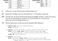 Datenbanken Entity-Relationship-Modell. Aufgabe 3: – Pdf pertaining to Er Diagramm 3. Normalform