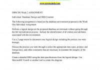 Dbm 380 Week 2 Individual Assignment Database Design And Erd regarding Database Design And Erd Creation