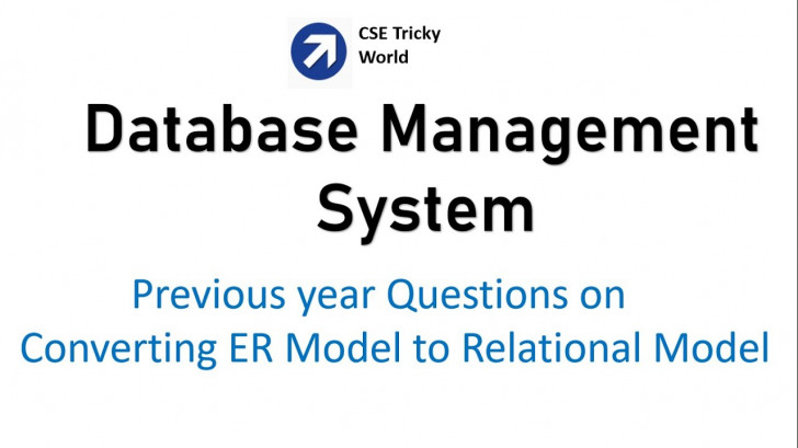 Permalink to Dbms| Gate Questions On Conversion From Er Model To Relational Model | Gate  Cs| Nta Net Cs| Htet Cs with Er Diagram Gate Questions