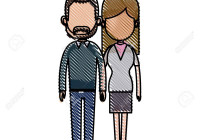 Drawing Couple Lovely Together Relationship Image Vector Illustration inside Drawing Relationship