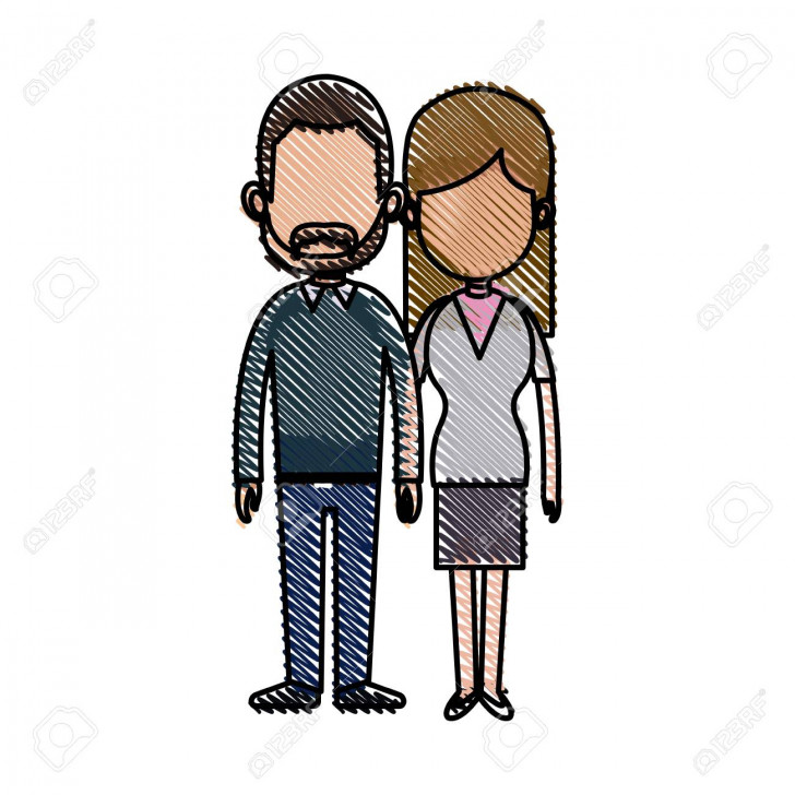 Permalink to Drawing Couple Lovely Together Relationship Image Vector Illustration inside Drawing Relationship