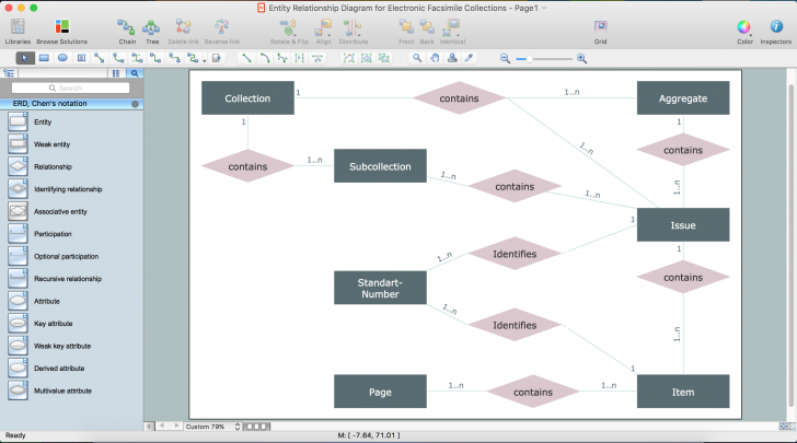 Permalink to Drawing Er Diagrams On A Mac | Professional Erd Drawing with regard to Er Diagram Associative Entity Example