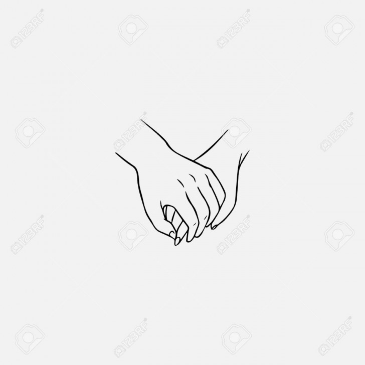 Permalink to Drawing Of One Hand Clasping Other Isolated On White Background pertaining to Drawing Relationship