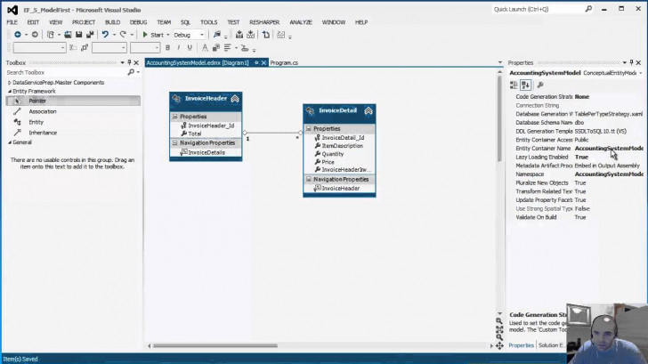 Permalink to Entity Framework 5.0 – Intro To Model First – Part 1 Of 2 within Entity Model