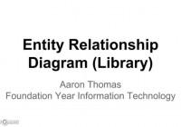 Entity Relationship Diagram (Library) – Youtube regarding Er Diagram Example Youtube