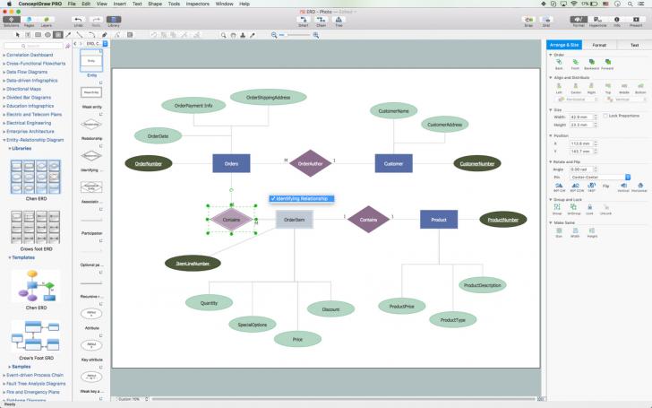 Permalink to Entity Relationship Diagram Symbols | Professional Erd Drawing for Er Diagram Loop