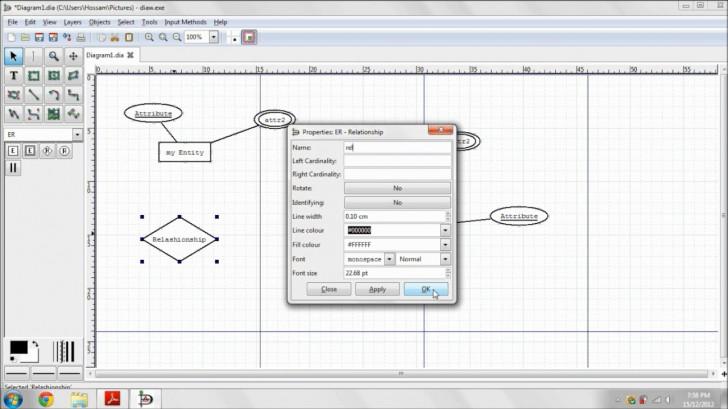 Permalink to Entity-Relationship Diagram Using Dia with regard to Er Diagram Nedir