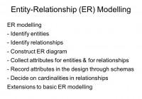 Entity-Relationship (Er) Modelling Er Modelling – Identify