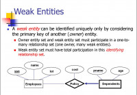 Entity Relationship Model. (Lecture 1) – Online Presentation throughout Database Weak Entity