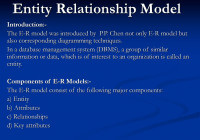 Entity Relationship Model – Ppt Download for Introduction To Er Model