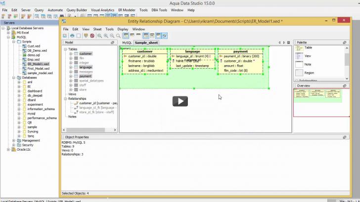 Permalink to Entity Relationship Modeler Basic Demo For Aqua Data Studio throughout Er Modeler