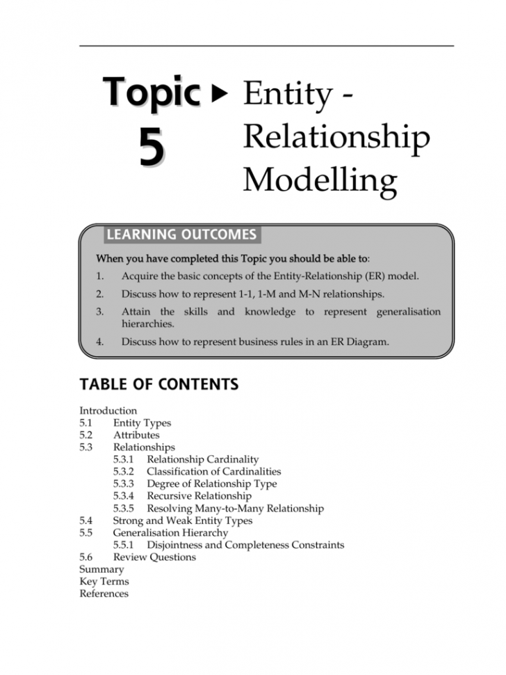 Permalink to Entity – Relationship Modelling with regard to Er Diagram Generalisation Is Represented By