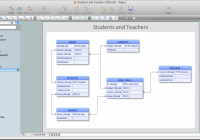 Entity Relationship Software   Professional Erd Drawing in Er Diagram With 6 Entities