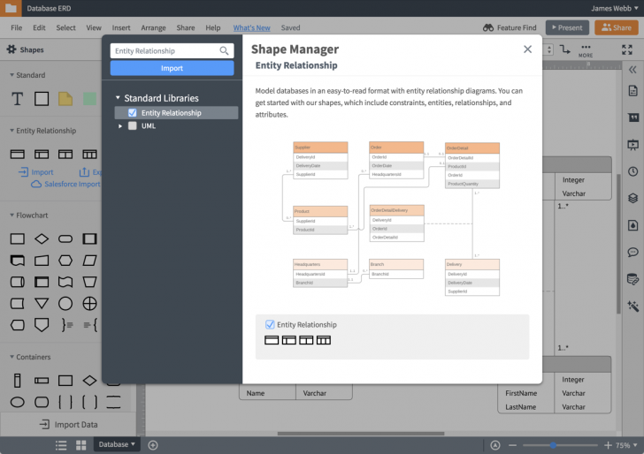Permalink to Er Diagram (Erd) Tool | Lucidchart regarding Er Model Tool Online