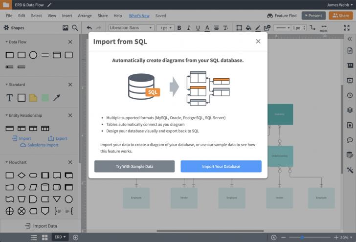 Permalink to Er Diagram (Erd) Tool | Lucidchart throughout Erd Maker Online Free