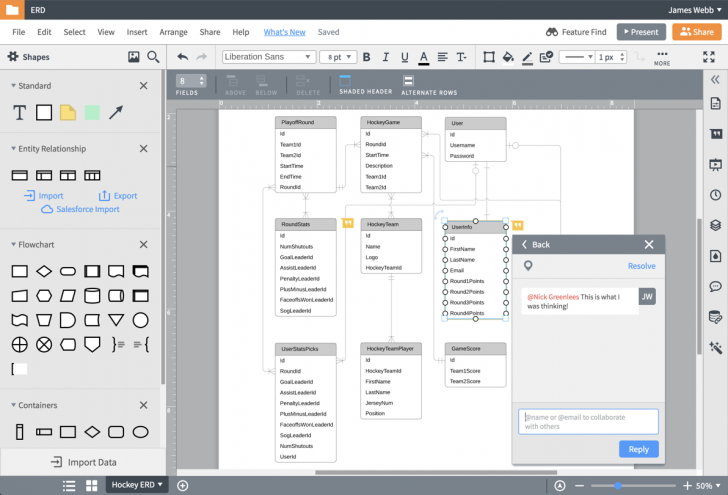 Permalink to Er Diagram (Erd) Tool   Lucidchart throughout Online Erd Modeling Tool