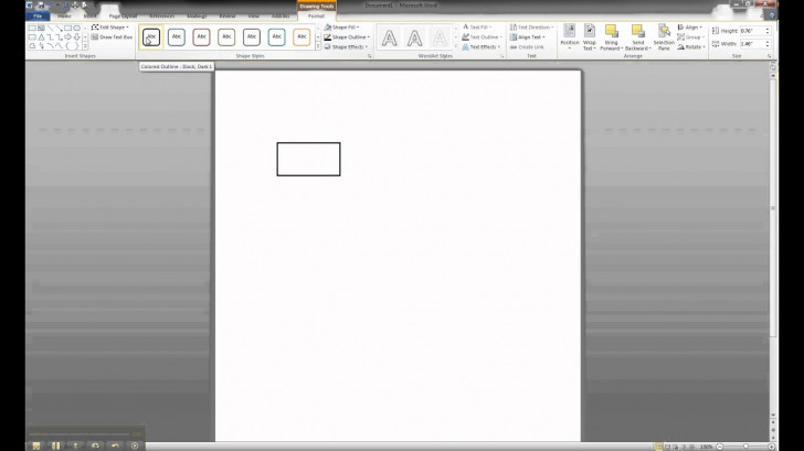 Permalink to Er Diagram In Ms Word Part 1 – Creating A Strong Entity pertaining to Er Diagram In Word 2010