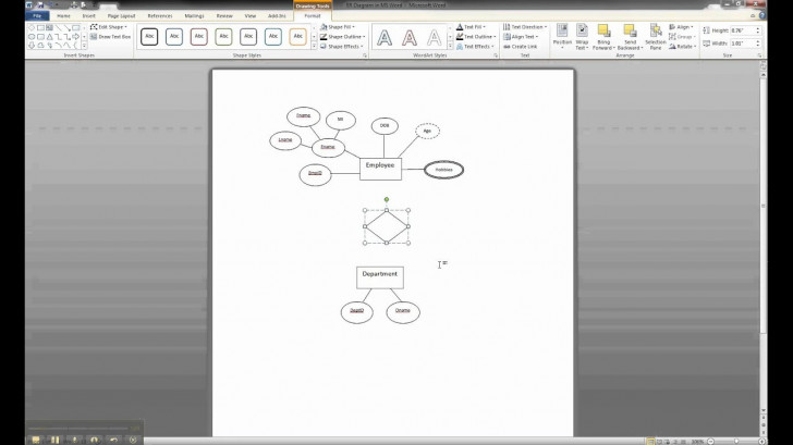 Permalink to Er Diagram In Ms Word Part 6 – Creating A Relationship regarding Er Diagram In Access 2007