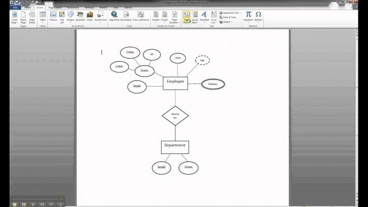 Permalink to Er Diagram Template Word