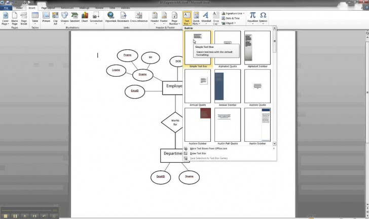 Permalink to Er Diagram In Ms Word Part 8 – Illustrating Cardinality pertaining to Er Diagram In Word