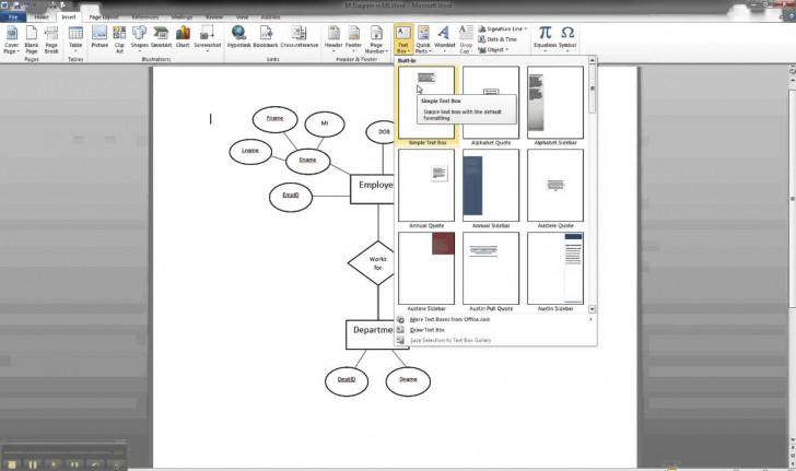 Permalink to Er Diagram In Ms Word Part 8 – Illustrating Cardinality regarding How To Draw Er Diagram In Word