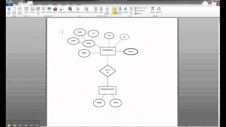 Permalink to Er Diagram In Ms Word Part 8 – Illustrating Cardinality throughout Er Diagram Word