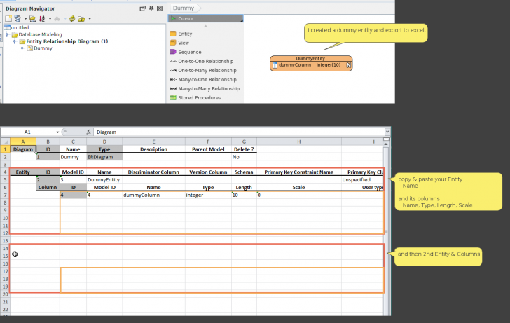 Permalink to Er Diagram] Need To Import Entities From Excel Into My Er intended for Er Diagram In Excel