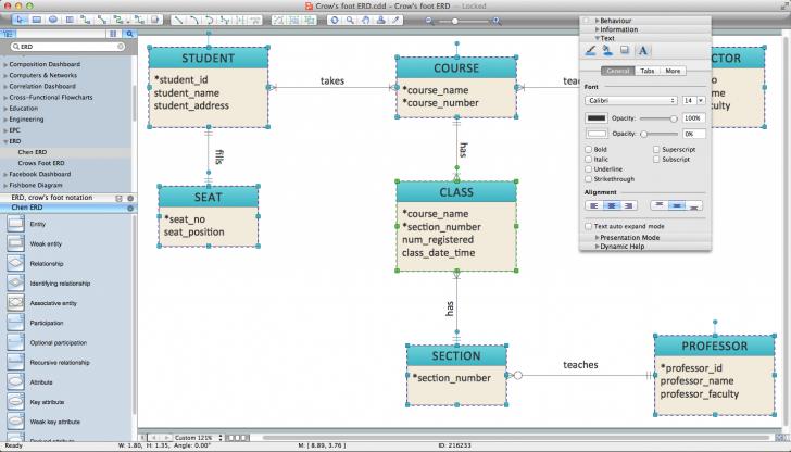 Permalink to Er Diagram Programs For Mac | Professional Erd Drawing inside Online Er Diagram Maker