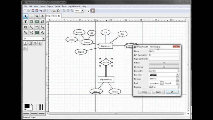 Permalink to Er Diagrams In Dia Part 9 – Illustrating Cardinality throughout Er Diagram With Cardinality
