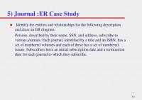 Er Modeling Case Studies – Ppt Download regarding Er Diagram Journal